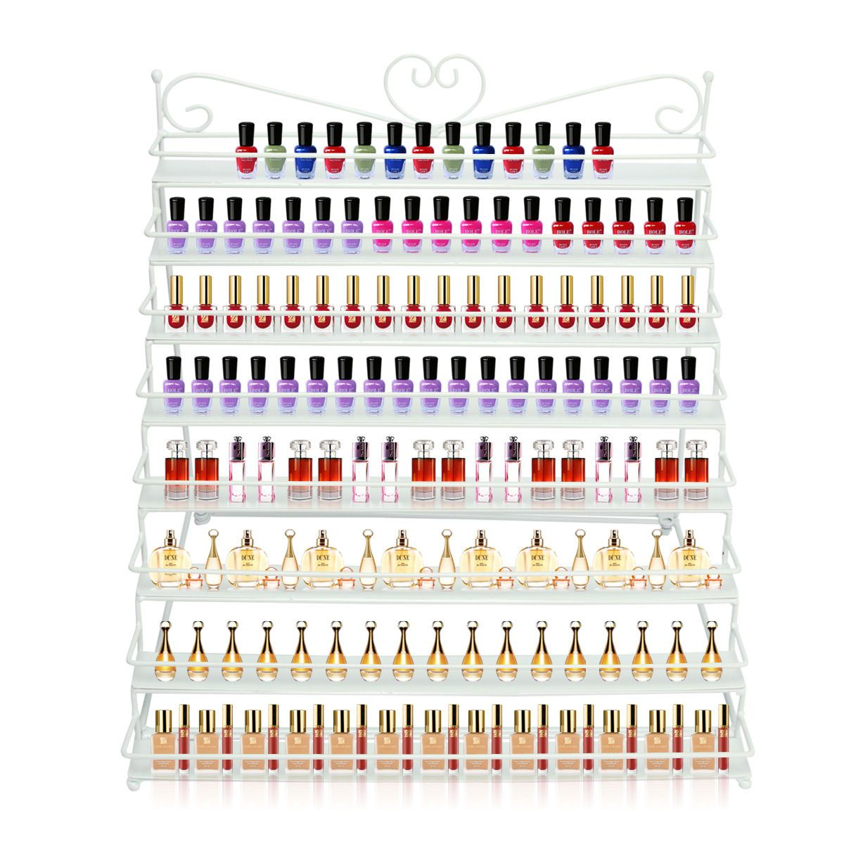 8 TIER Nail Polish Rack Organizer Stand Holder (Hold to 100+ Bottles ...