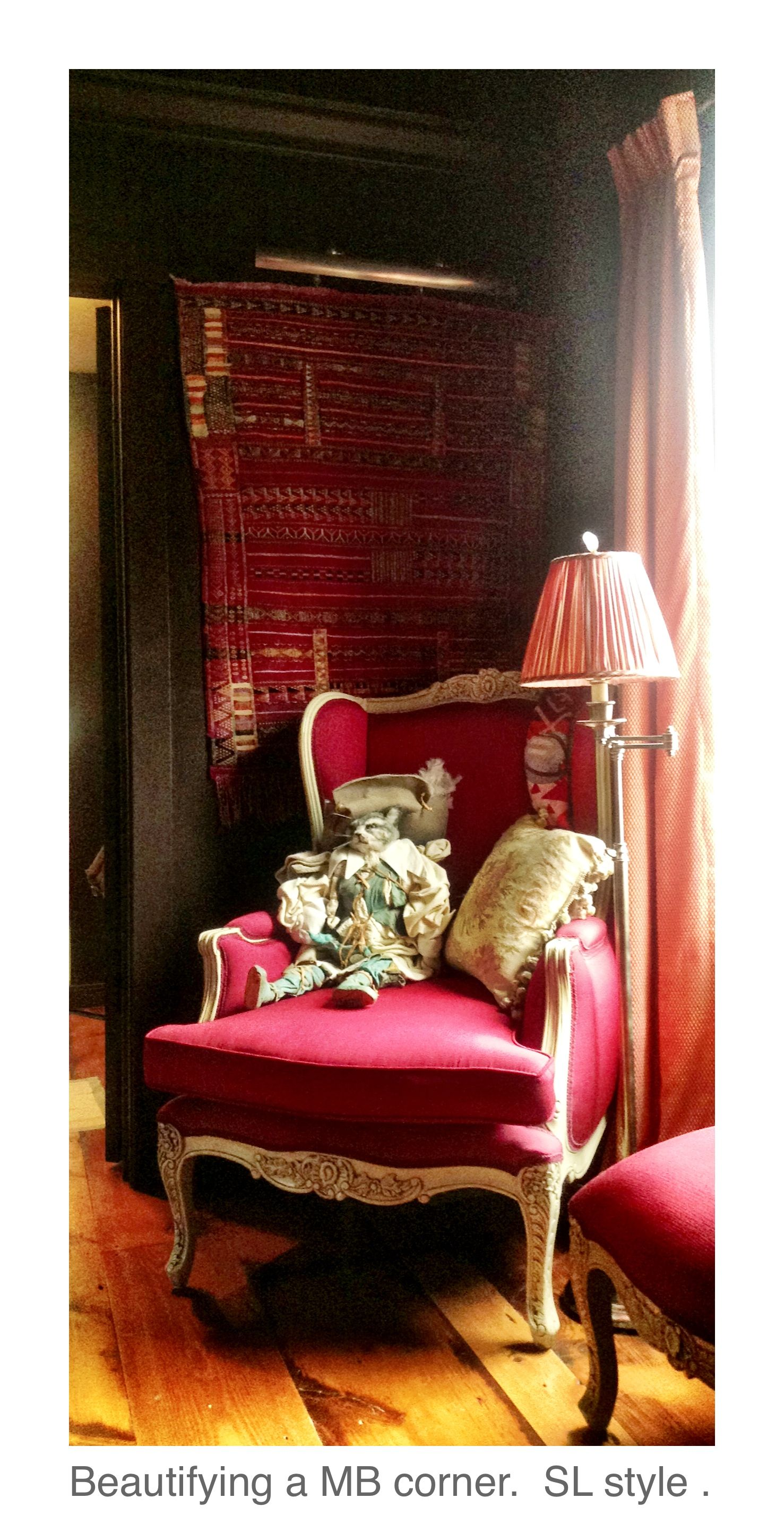 Morocco meets French Country Style. Room designed, sourced & decorated by Silvina Leone. C. 2013.  All rights reserved.