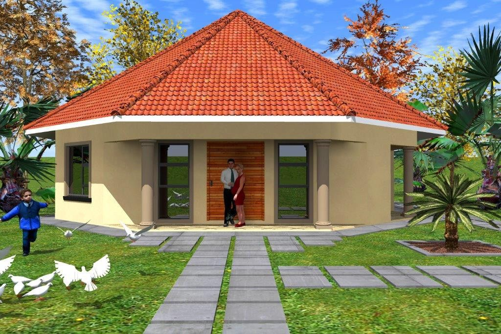 Modern rondavel house design plans google search for Thatched house plans