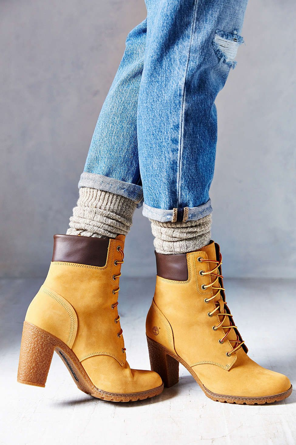 Timberland Glancy Wheat Heeled Boot  dd6b8a02a24