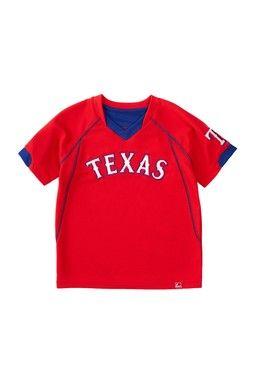 Texas Rangers Lead Hitter Short Sleeve V-Neck Tee (Little Boys)