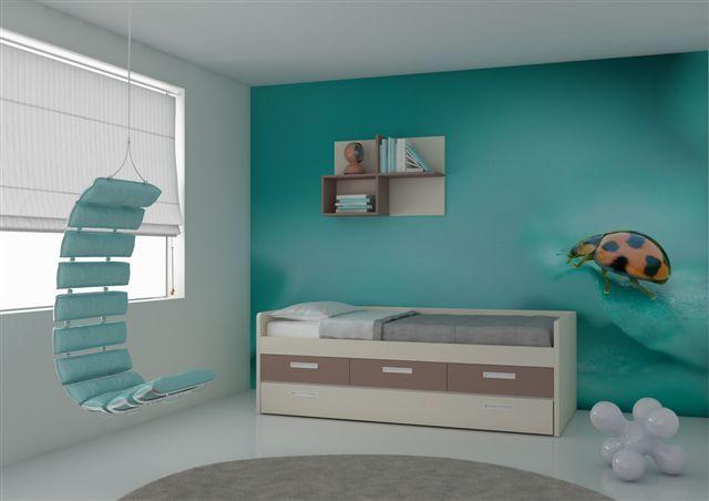 Compact kinderbed van nardiinterni nardiinterni pinterest for Verfkleuren slaapkamer