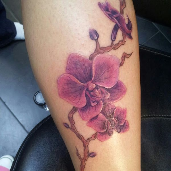 8468284582fb6 Realistic Orchid Tattoo Orchid by artsylun4tic | Skin Art | Orchid ...