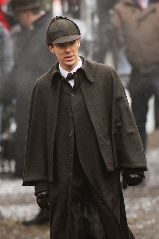 See Sherlock stars Benedict Cumberbatch and Martin Freeman in Victorian costumes