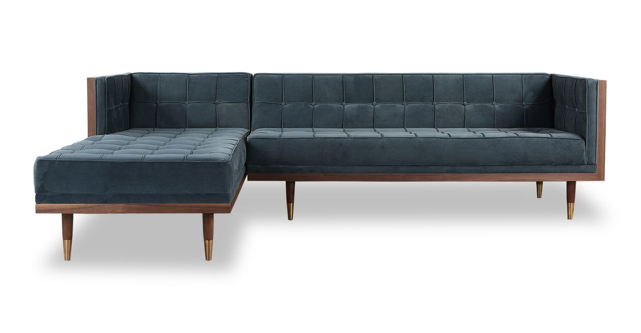Terrific Woodrow Box Sofa Sectional Left Walnut Neptune Sectional Ibusinesslaw Wood Chair Design Ideas Ibusinesslaworg
