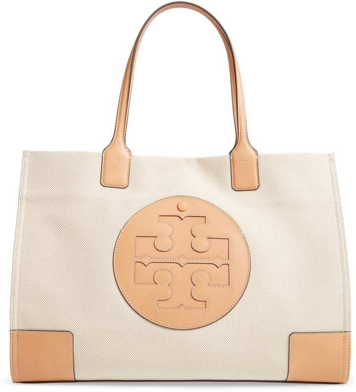 Tory Burch Ella Canvas Tote - Beige -   11 hair Summer tory burch ideas