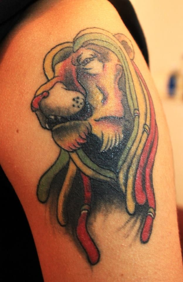 Rasta Lion Tattoo Lion Tribal Rasta Pinterest Rasta Lion And