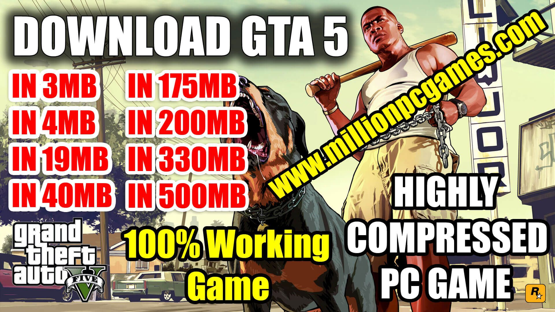 Gta 5 Highly Compressed In 3mb 4mb 40mb 50mb 175mb 200mb 300mb