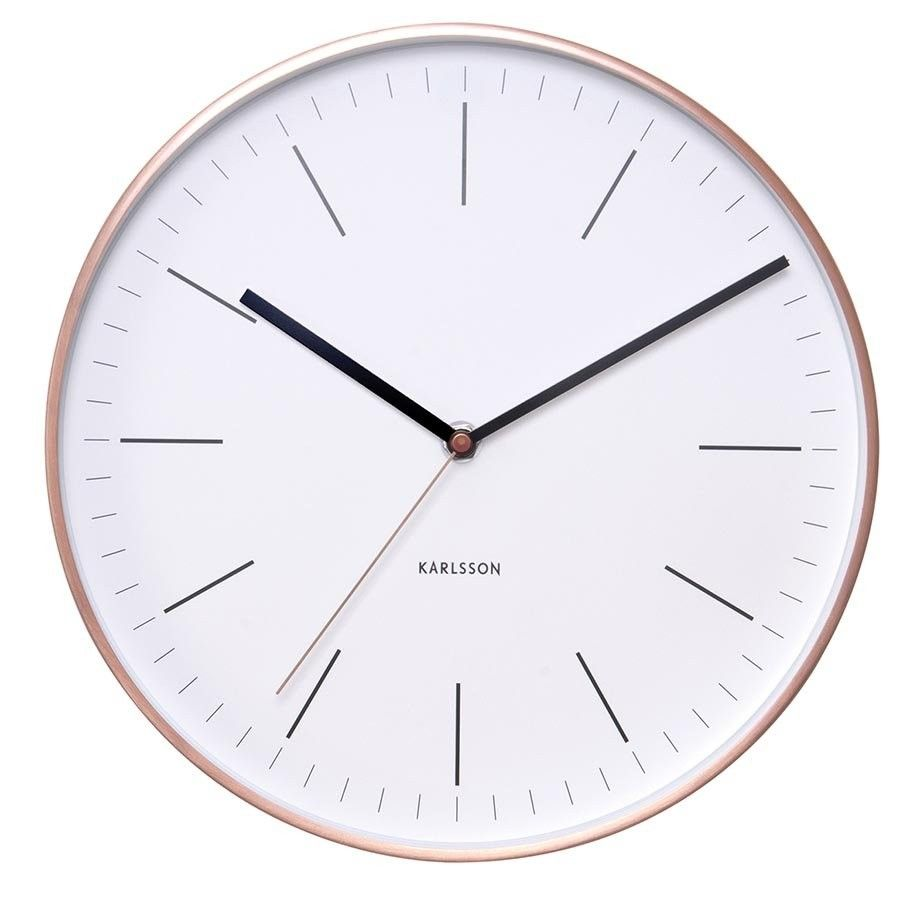 Wall clock watch white with copper case wall clocks for wall clock watch white with copper case amipublicfo Choice Image