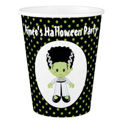 Cute Halloween Monster Girl Halloween Party Paper Cup - halloween