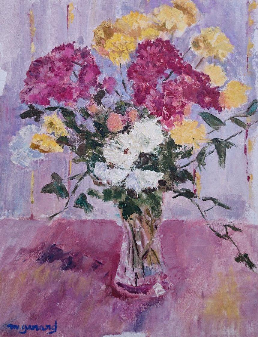 Maud Gérard (1915-2013) - Flowers in a Jug #maudgerard #flowers #oilpaintings
