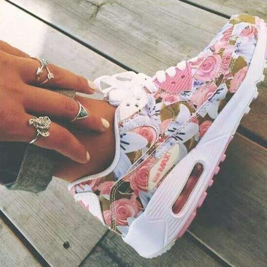 Latest Nike Air Max 90 Floral Print Womens Jasmine Flower