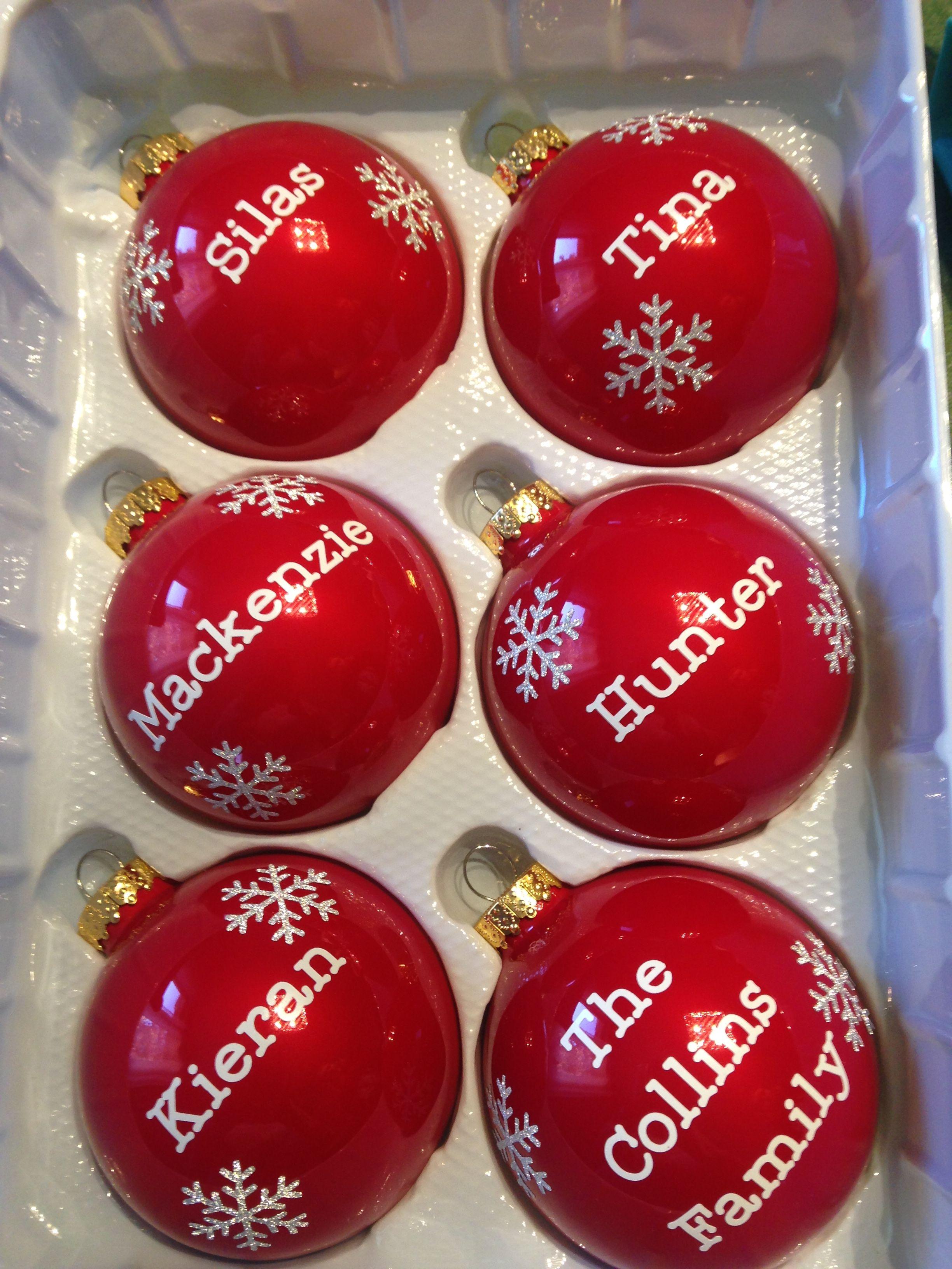 Family Ornaments Cricut Family Ornaments Personalized Ornaments Cricut Ornaments