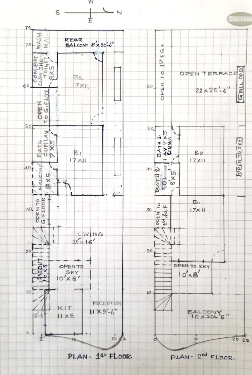 For A Narrow Plot 22 75 House Plans How To Plan Floor Plans