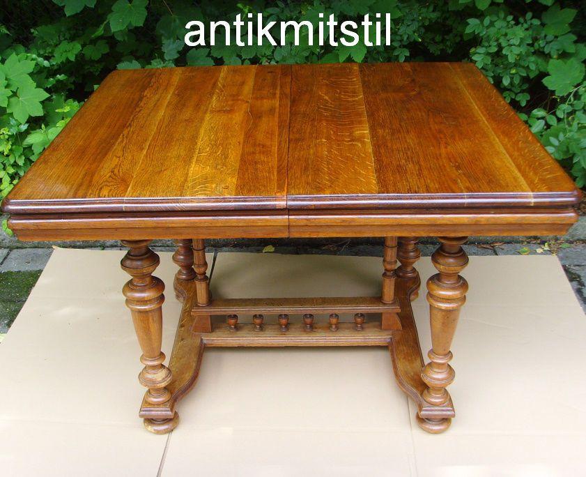 Original Grunderzeit Esszimmertisch Tisch Antik Massiv Restauriert Ausziehbar Tisch Antik Esszimmertisch Esstisch