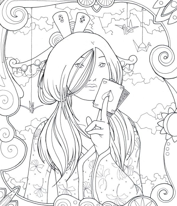 gypsy Coloring Pages | Obviously fantasy. They didn\'t have playing ...