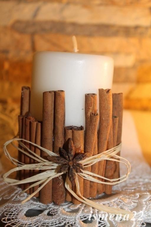 Stroik Cynamonowa Swieca Swiateczna Swieca Cynamon 4822168642 Oficjalne Archiwum Allegro Christmas Decor Diy Christmas Decorations Diy Decor