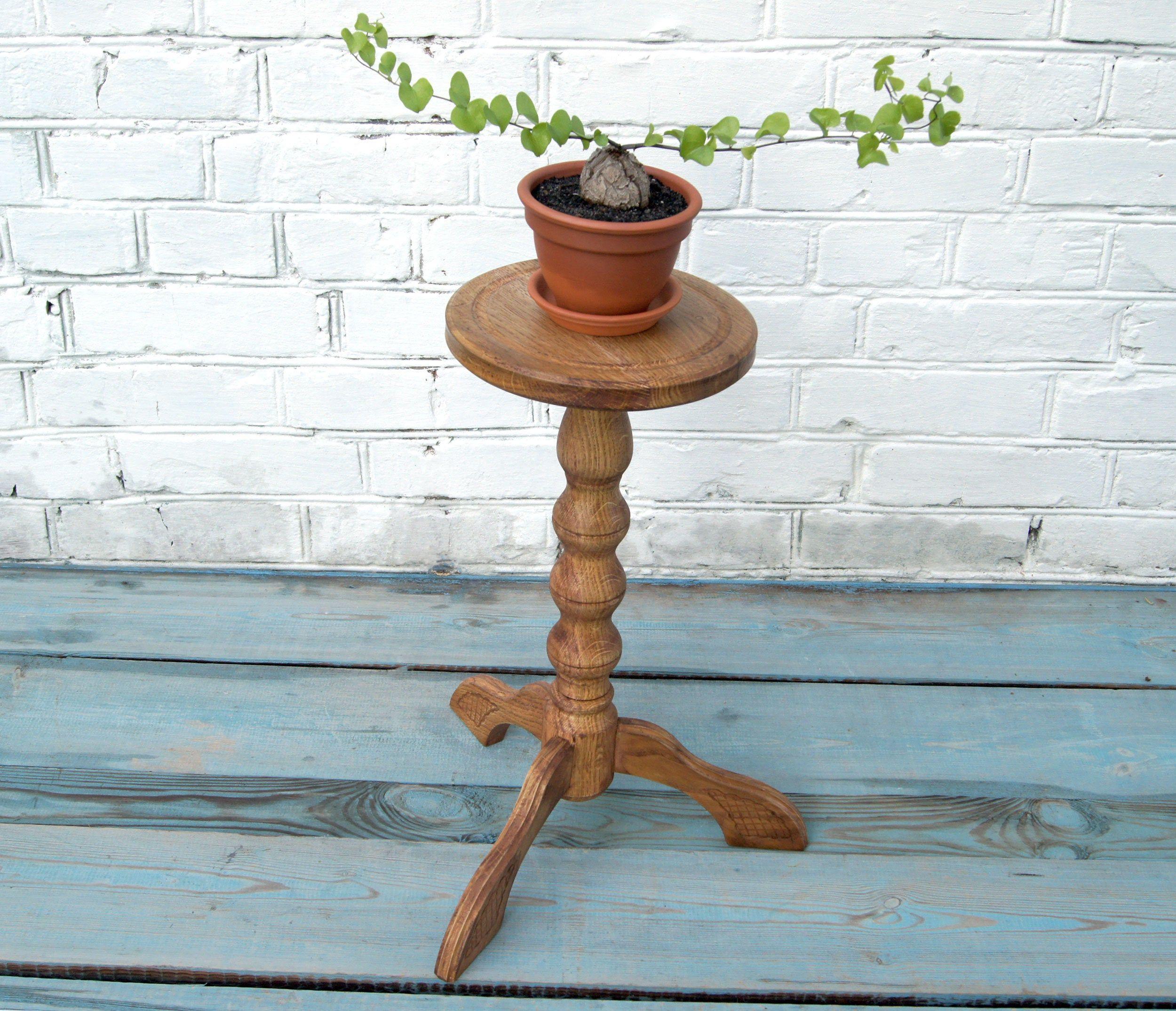Wood Pedestal Plant Stand Indoor Wooden Planter Stand Flower Etsy Plant Stand Indoor Wooden Planters Plant Pot Holders