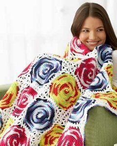 Crochet Circles Throw