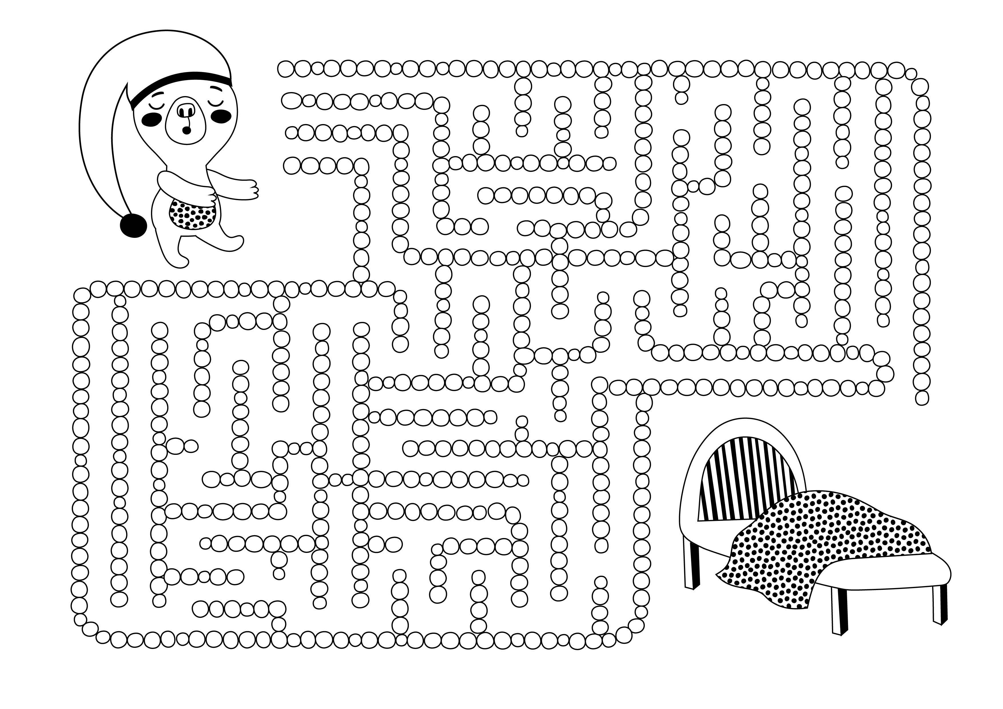 Labyrintti | free printable pattern | lasten | lapset | joulu | idea | askartelu | kädentaidot | käsityöt | tulostettava | paperi | labyrintti | väritys | värittäminen | värittää | koti | leikki | DIY | ideas | kids | children | crafts | paper | labyrinth | christmas | home | coloring | Pikku Kakkonen
