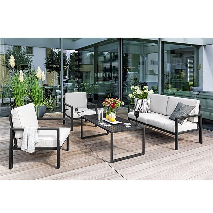 Sunfun Loungemobel Set Judith 4 Tlg Anthrazit Bauhaus Lounge Mobel Outdoor Lounge Mobel Lounge Sessel Garten