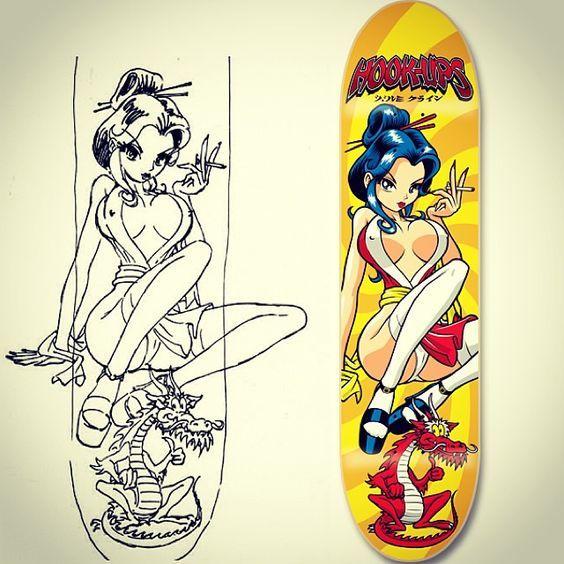 Hook Up's Naughty Geisha 2 with Original Art: