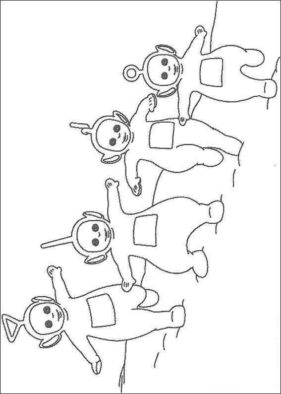 Dibujo Para Colorear Los 4 Teletubbies Educacao Especial Colorir