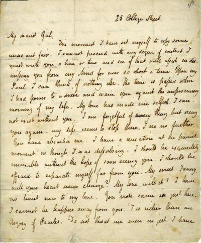 john keats love letter to fanny brawne – 13 october 1819