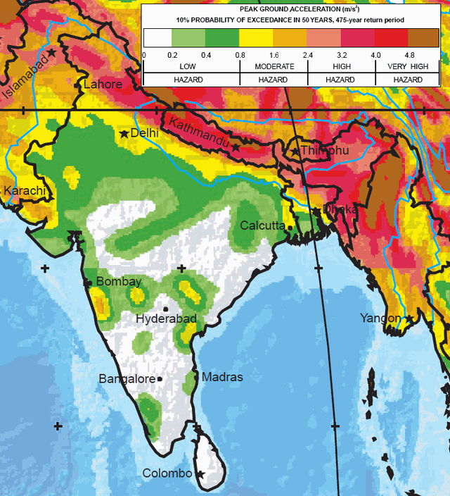 The greatest earthquake zones on earth india and himalaya map global seismic hazard assessment program gumiabroncs Image collections