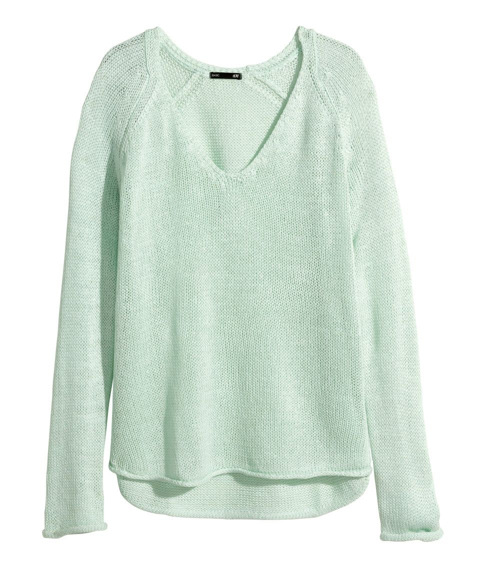 Women Comfy Knitted V-Neck Long Sleeve Jumpers Casual Pullovers Warm Stretch Top