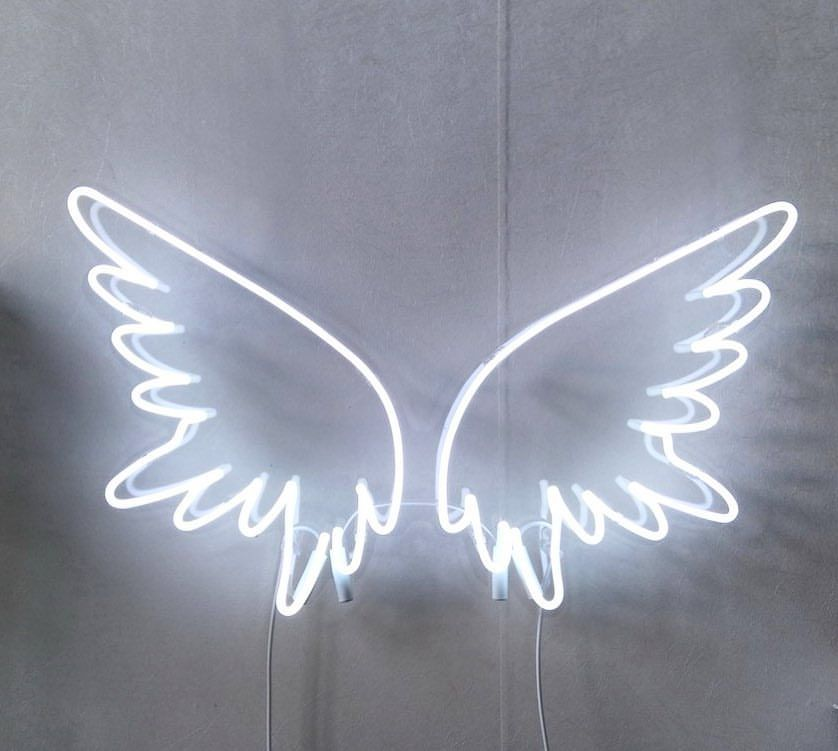 White Angel Wings Neon Factory Neon Wallpaper Pink Wallpaper Iphone White Angel Wings Aesthetic iphone angel wings wallpaper