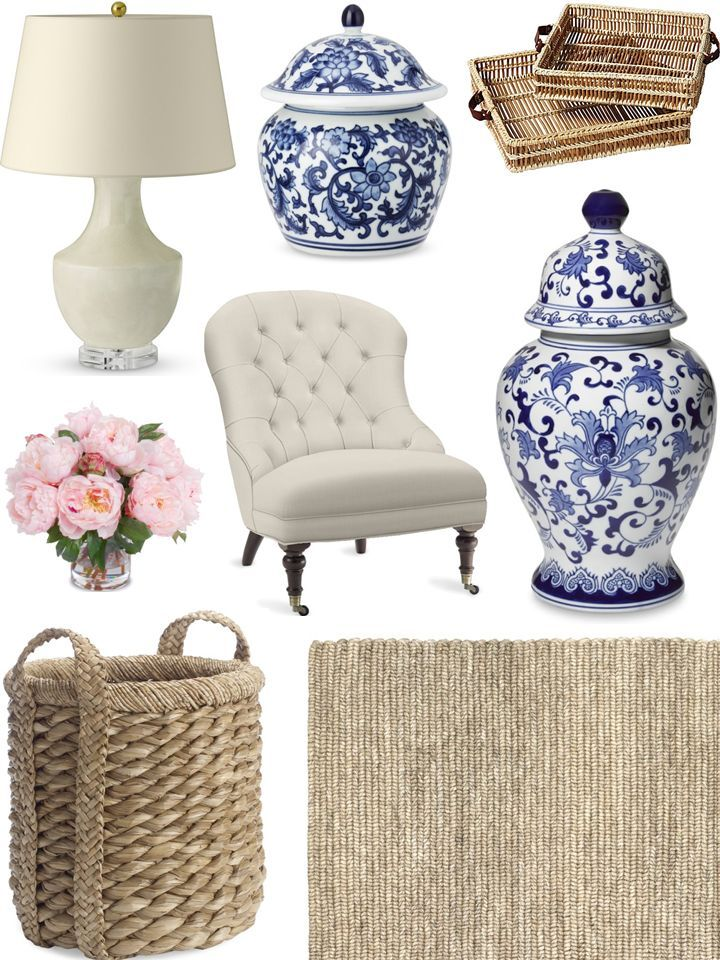 Photo of CHIC COASTAL LIVING: FALL REFRESH FOR THE HOME blue & white. #decor #accessories