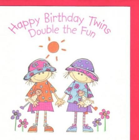 Happy Birthday Twins Twin Sisters Mellizas Gemelas