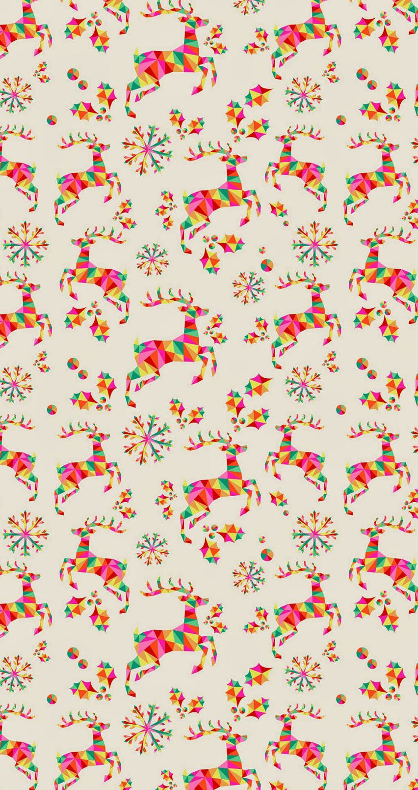 Colorful geometric reindeer pattern tap image for more