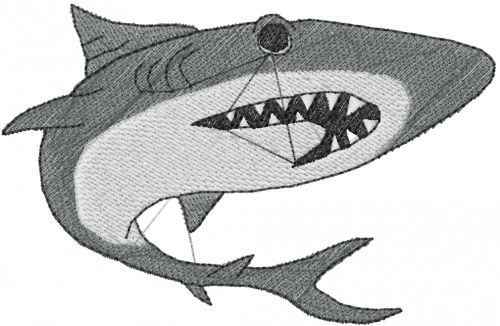 Cartoon Shark Embroidery Design Annthegran Free Embroidery