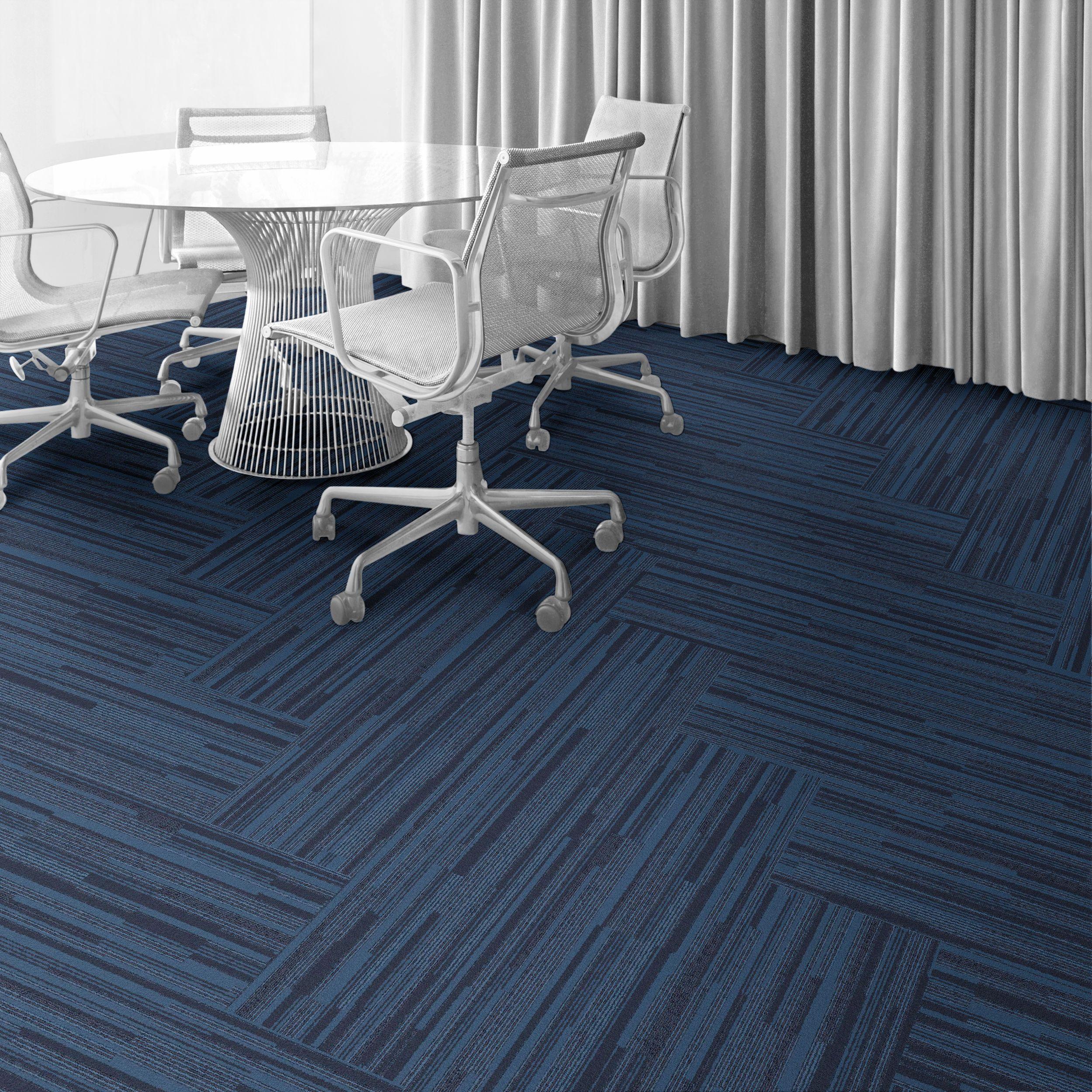 Interface Carpet Tile B701 Color North Sea 7431 002 000 Installation Method Herringbone Floor Design Modular Carpet Tiles Commercial Carpet Tiles
