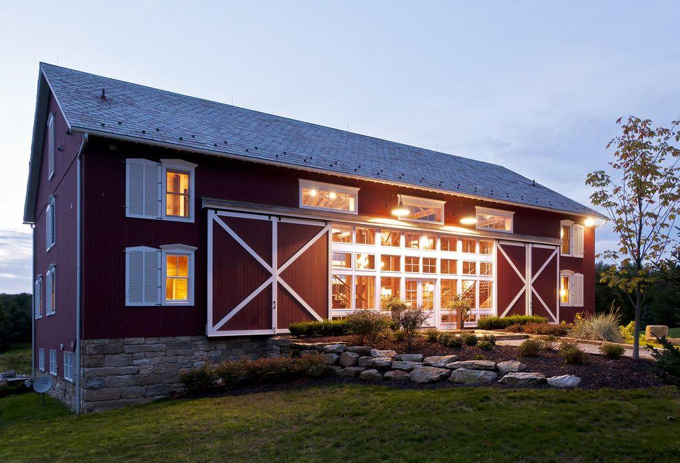 Diy Pole Barn House Plans Exterior Farmhouse With Barn Barn Doors Red Ideas Home Design Pretty
