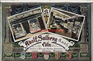 AK Cöln Adolf Salberg GmbH Laden Wappen | eBay