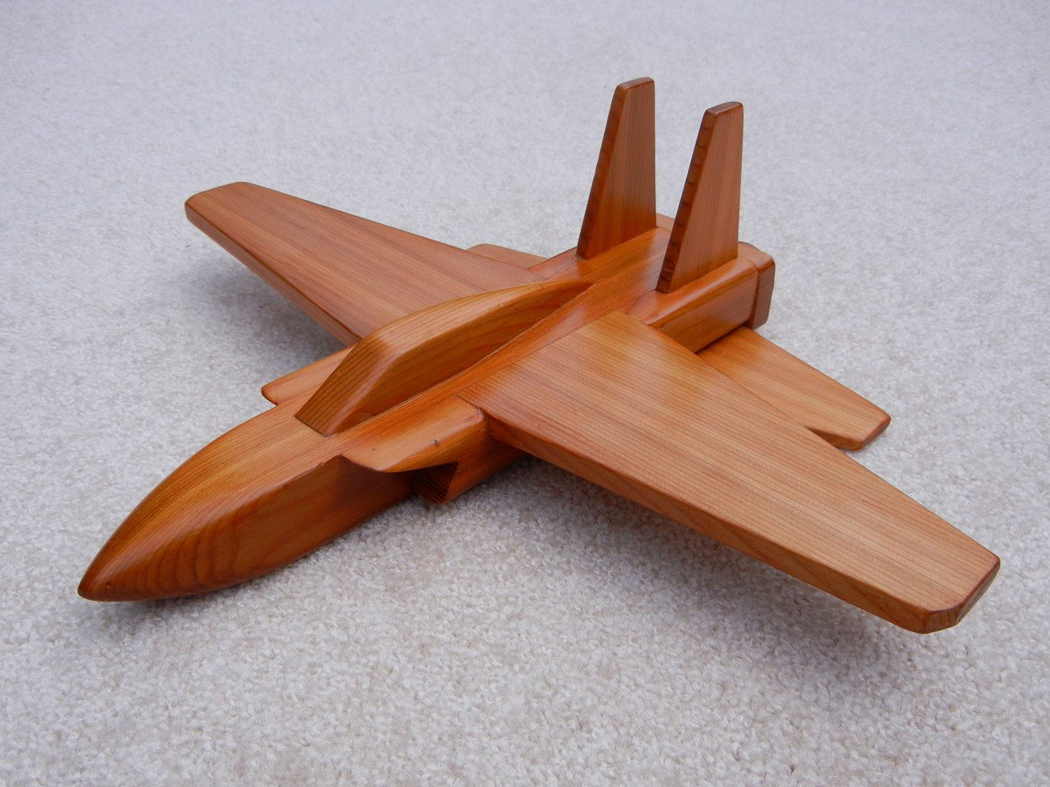 Wooden Jet Airplane Toy Cedar Wood Toys Airplane
