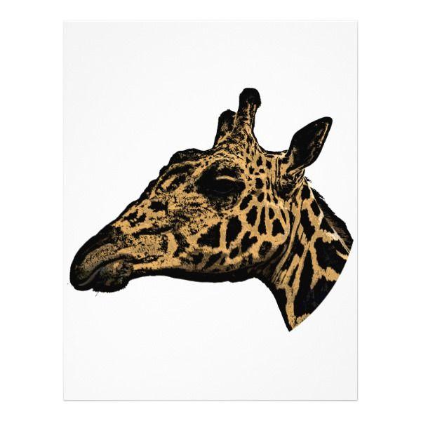 Giraffe Logo Letterhead Custom Office Supplies Business Branding