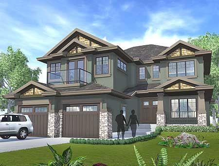 Plan 81651AB Northwest Home with Sunken Den 2nd floor, House