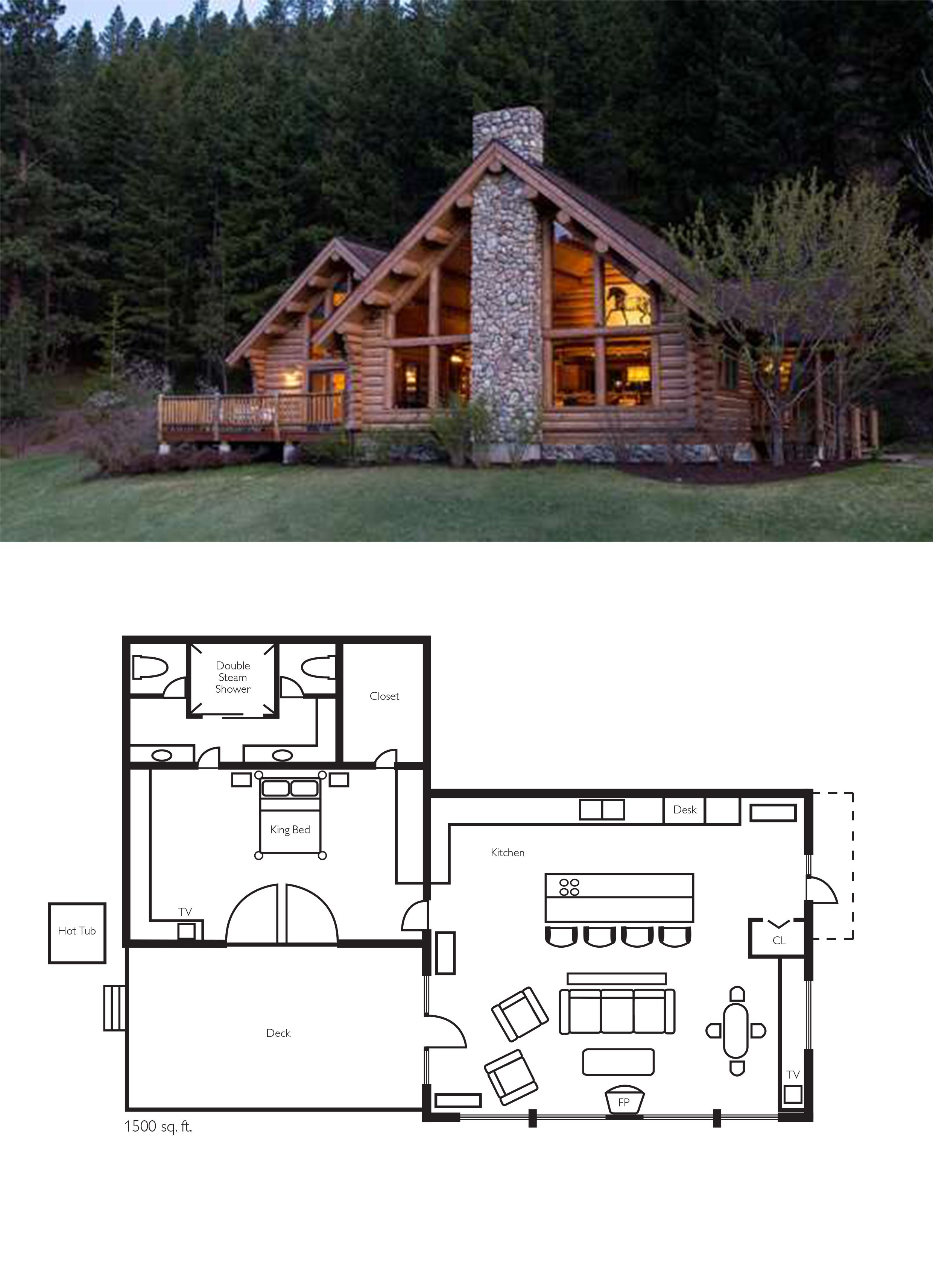 Award Winning Log House Ranch For The Ultimate Luxury Vacation Lake House Plans Log Cabin Floor Plans House In The Woods