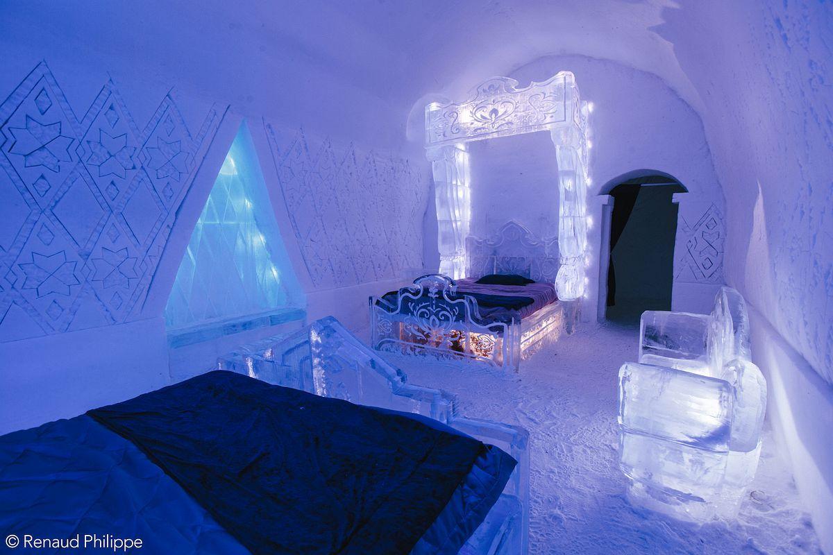 Hotel de Glace - Quebec, Canada Rebuilt each... | Ice hotel, Hotel, Quebec
