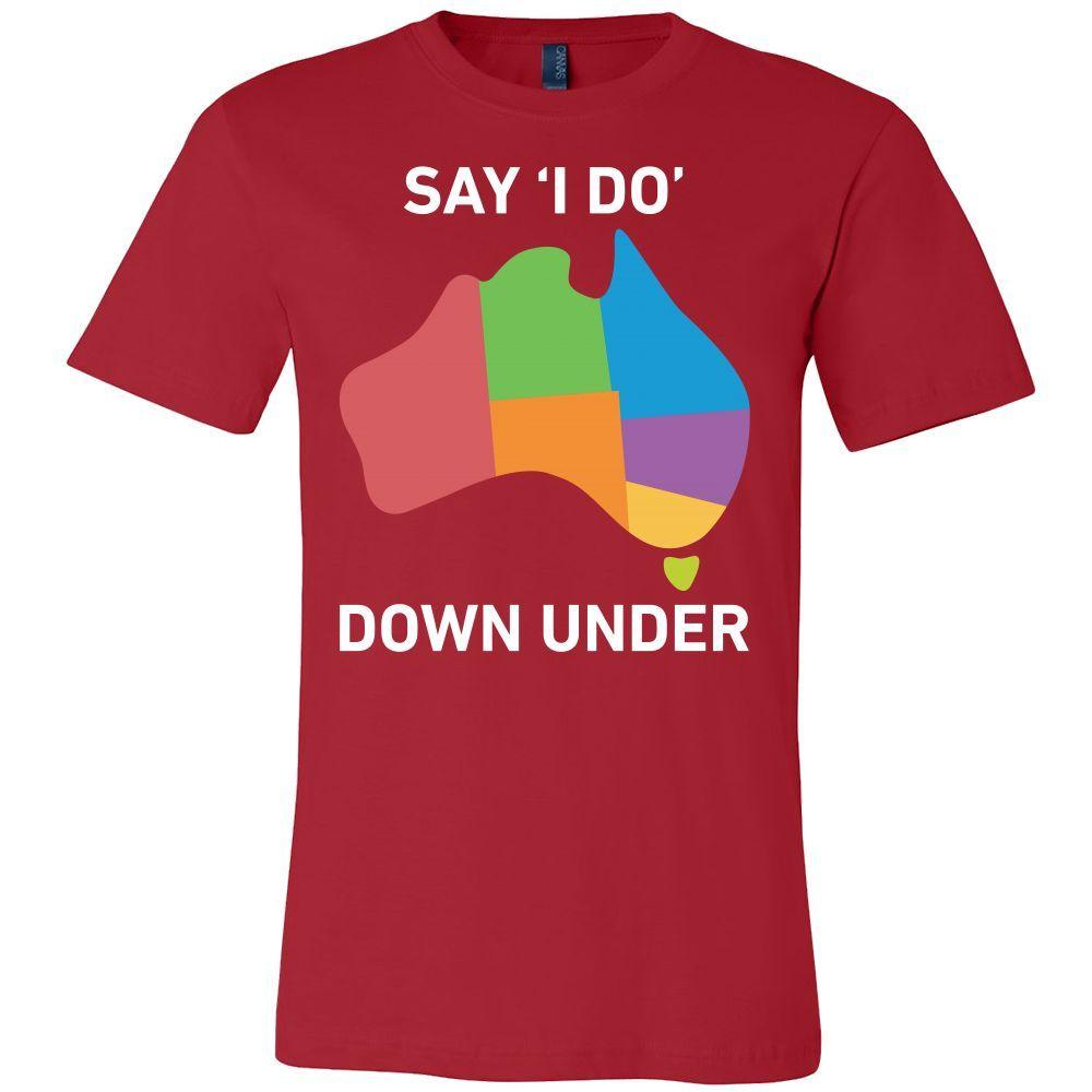 Say I Do Down Under Men Short Sleeve T Shirt - TL00669SS