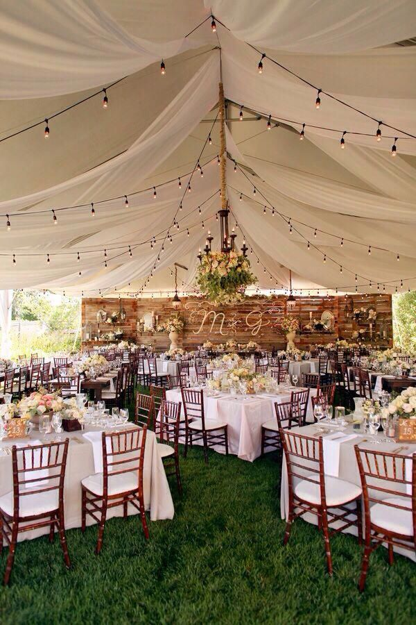 We Love This Outdoor Backyard Chic Tented Wedding For Wedding