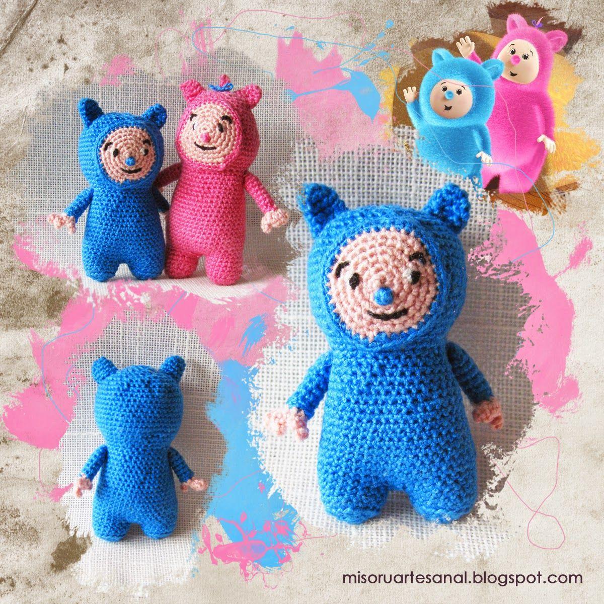 Pequeños muñecos hechos a mano... y mucho más: Jugando con el Azul.