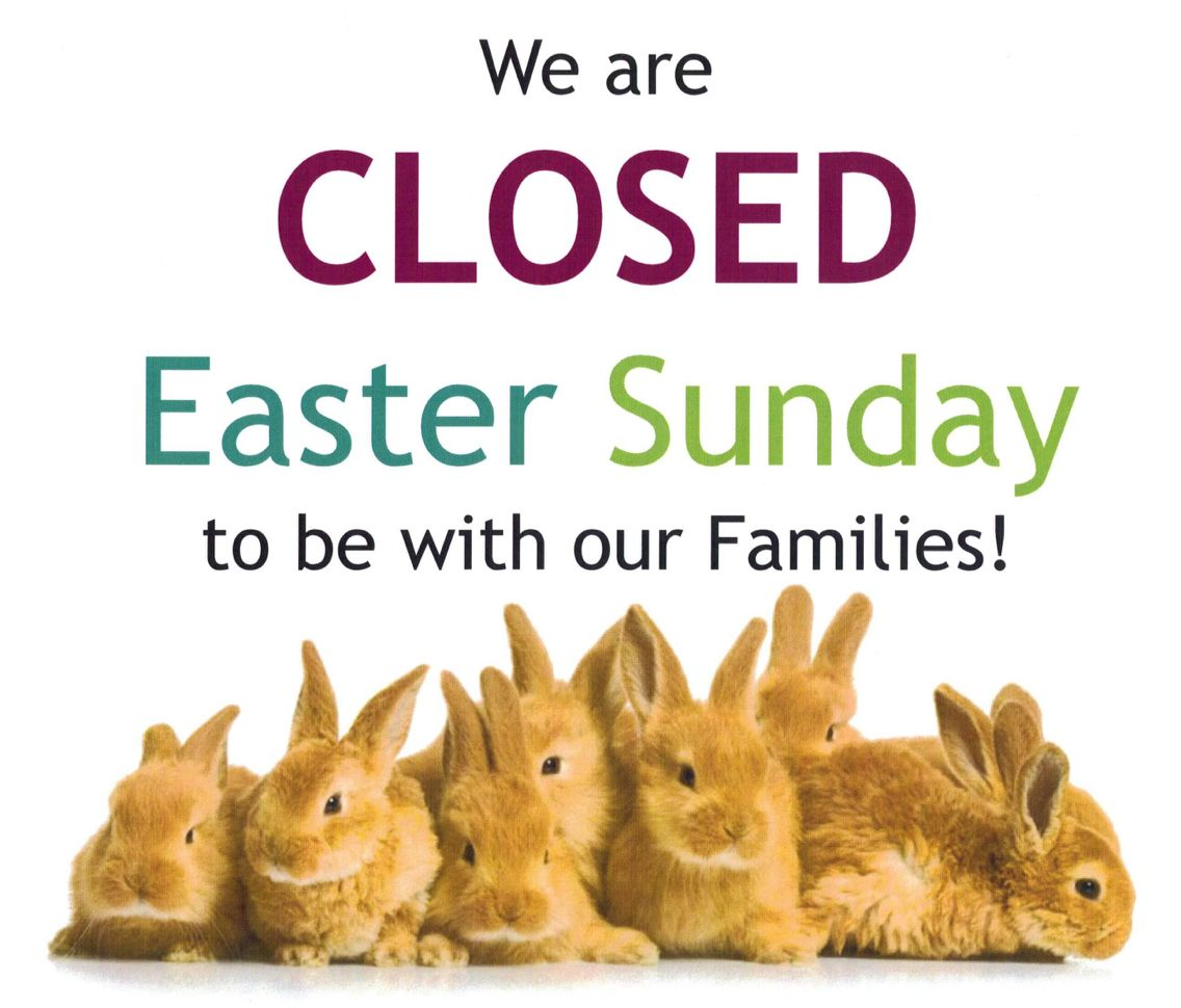 Our Dry Falls Stores Will Be Closed Today For Easter We Will Resume Regular Business Hours Tomorrow Happy Lucky Burger Easter Sunday Old Fashioned Ice Cream