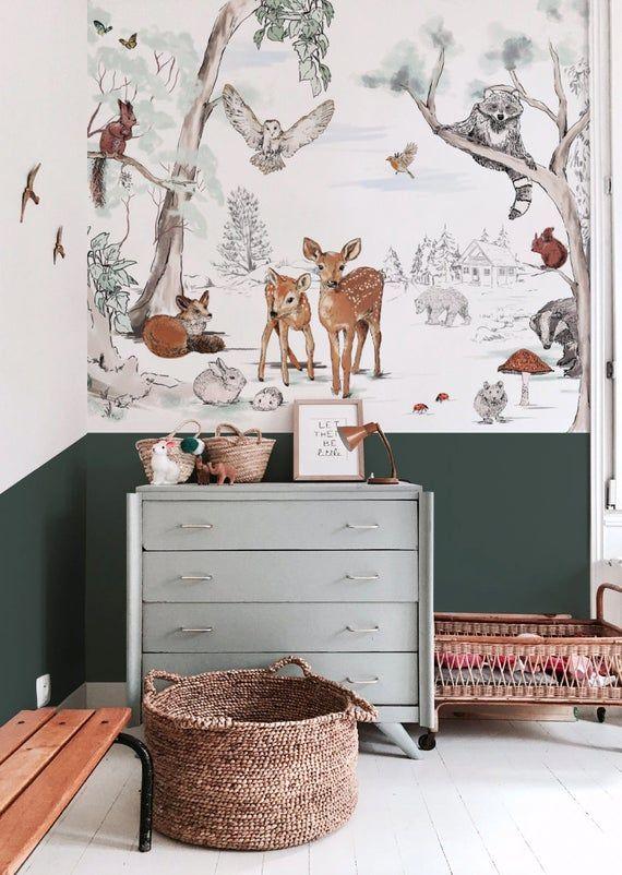 Wallpaper MAGICAL FOREST - Unique design - premium