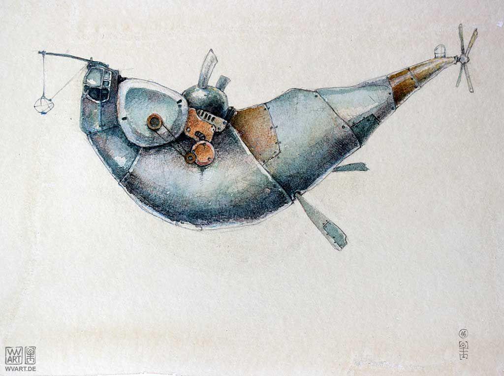 Miniature Watercolor Painting Original Aceo Tufted Titmouse Art