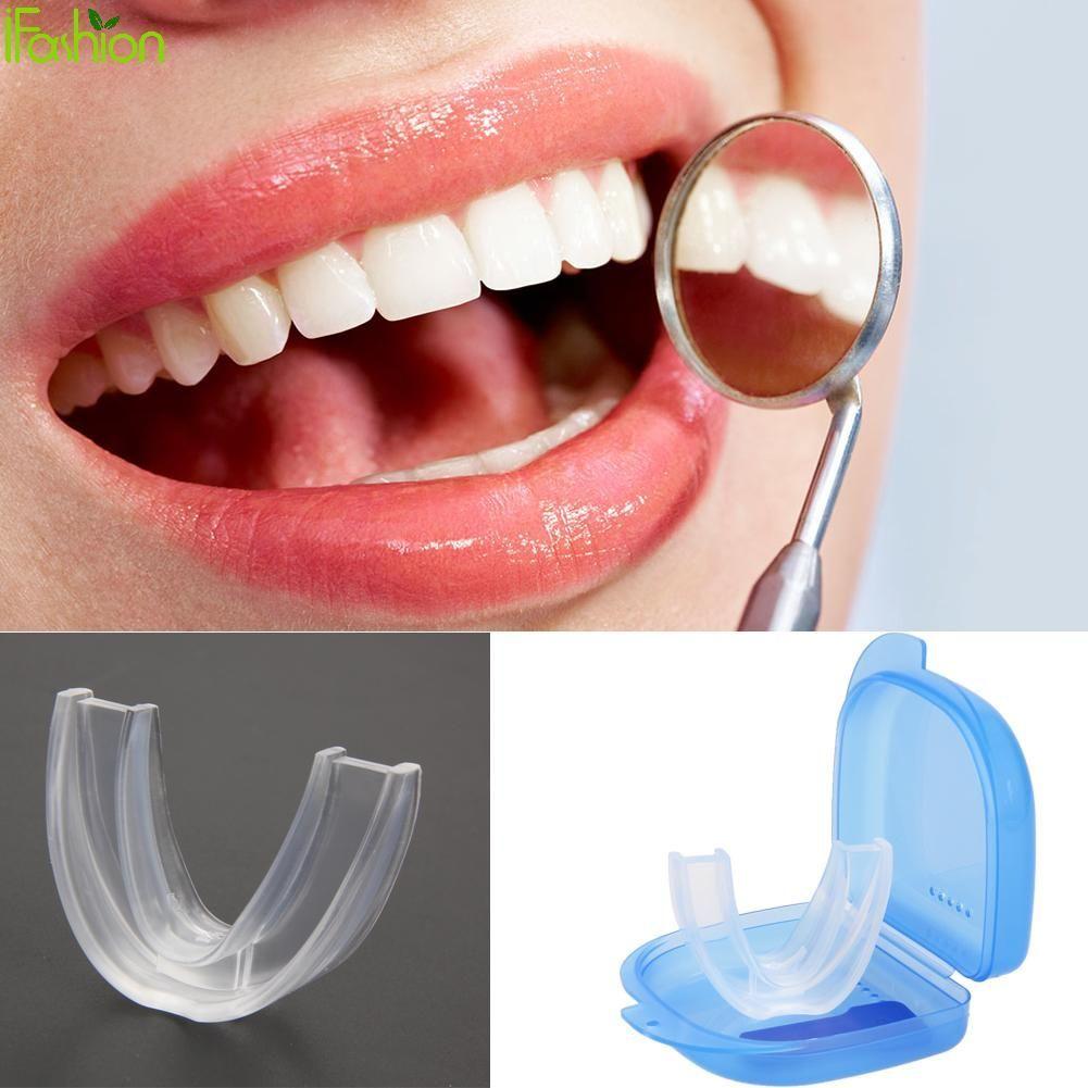 Silicone Mouth Guard For Teeth Grinding Anti Snoring Sleep Mouth Guard Teeth Protector For Night Sleep Use Stop Sleep Bruxism Cure For Sleep Apnea Sleep Apnea